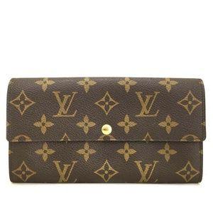 Auth Louis Vuitton Portefeiulle Sarah Bifold